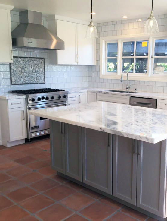 kitchen design and remodeling.  and splashes of contemporary sheen update the look this classic coastal kitchen design remodel Shaker style cabinetry beaded board panels on Kitchen Design Remodeling Project 6 OTM