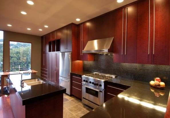 dark kitchen cabinets