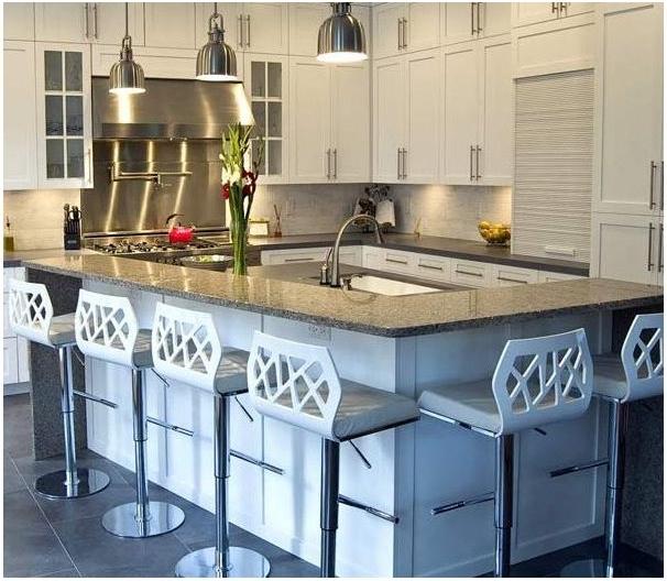 kitchen island seating area
