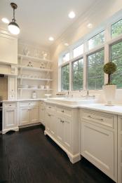 bright white kitchen